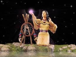 amérindienne et étoiles