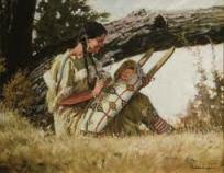 femme amérindienne avec son bébé