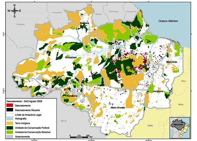 déforestation forêt amazonienne carte